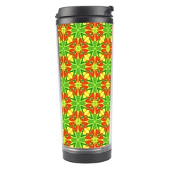 Pattern Texture Christmas Colors Travel Tumbler by Celenk