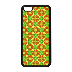 Pattern Texture Christmas Colors Apple Iphone 5c Seamless Case (black) by Celenk