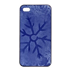 Winter Hardest Frost Cold Apple Iphone 4/4s Seamless Case (black) by Celenk