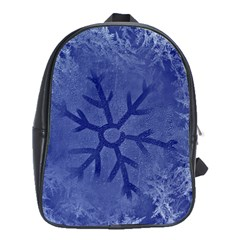 Winter Hardest Frost Cold School Bag (xl) by Celenk
