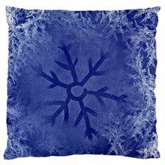 Winter Hardest Frost Cold Large Flano Cushion Case (two Sides) by Celenk