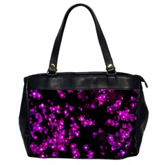 Abstract Background Purple Bright Office Handbags by Celenk