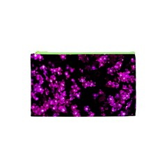 Abstract Background Purple Bright Cosmetic Bag (xs) by Celenk