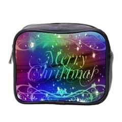 Christmas Greeting Card Frame Mini Toiletries Bag 2 Side by Celenk