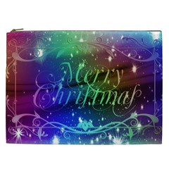 Christmas Greeting Card Frame Cosmetic Bag (xxl)  by Celenk