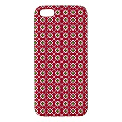 Christmas Wrapping Paper Apple Iphone 5 Premium Hardshell Case by Celenk