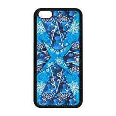 Christmas Background Wallpaper Apple Iphone 5c Seamless Case (black) by Celenk