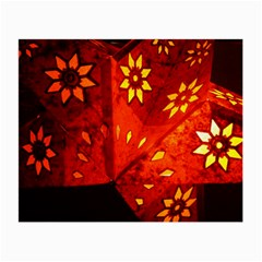 Star Light Christmas Romantic Hell Small Glasses Cloth by Celenk