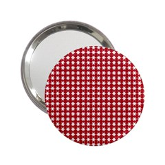 Christmas Paper Wrapping Paper 2 25  Handbag Mirrors by Celenk