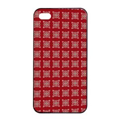 Christmas Paper Wrapping Paper Apple Iphone 4/4s Seamless Case (black) by Celenk