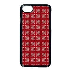 Christmas Paper Wrapping Paper Apple Iphone 8 Seamless Case (black) by Celenk