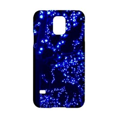Lights Blue Tree Night Glow Samsung Galaxy S5 Hardshell Case  by Celenk