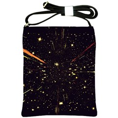 Star Sky Graphic Night Background Shoulder Sling Bags by Celenk