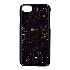 Star Sky Graphic Night Background Apple Iphone 8 Seamless Case (black) by Celenk