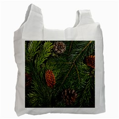 Branch Christmas Cone Evergreen Recycle Bag (one Side) by Celenk