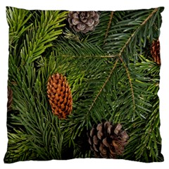 Branch Christmas Cone Evergreen Large Cushion Case (one Side) by Celenk