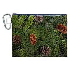 Branch Christmas Cone Evergreen Canvas Cosmetic Bag (xxl) by Celenk