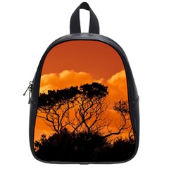 Trees Branches Sunset Sky Clouds School Bag (small) by Celenk