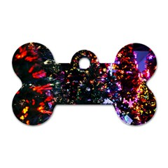 Abstract Background Celebration Dog Tag Bone (two Sides) by Celenk