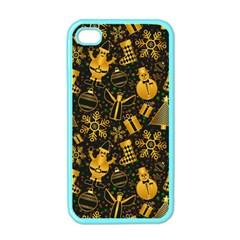 Christmas Background Apple Iphone 4 Case (color) by Celenk