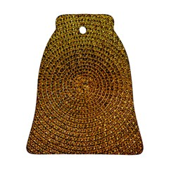 Background Gold Pattern Structure Ornament (bell) by Celenk