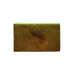 Background Gold Pattern Structure Cosmetic Bag (xs) by Celenk