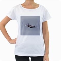 P 51 Mustang Flying Women s Loose Fit T Shirt (white) by Ucco