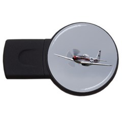 P 51 Mustang Flying Usb Flash Drive Round (4 Gb) by Ucco