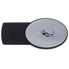 P 51 Mustang Flying Usb Flash Drive Oval (4 Gb) by Ucco
