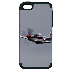 P 51 Mustang Flying Apple Iphone 5 Hardshell Case (pc+silicone)