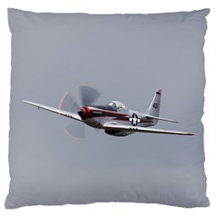 P 51 Mustang Flying Standard Flano Cushion Case (one Side) by Ucco