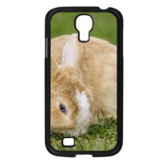 Beautiful Blue Eyed Bunny On Green Grass Samsung Galaxy S4 I9500/ I9505 Case (black) by Ucco
