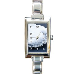Ice, Snow And Moving Water Rectangle Italian Charm Watch by Ucco