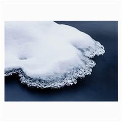 Ice, Snow And Moving Water Large Glasses Cloth by Ucco