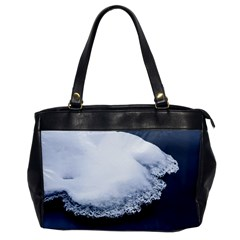 Ice, Snow And Moving Water Office Handbags by Ucco
