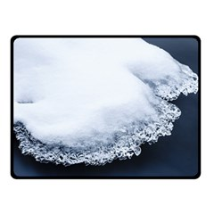 Ice, Snow And Moving Water Fleece Blanket (small) by Ucco