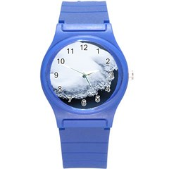 Ice, Snow And Moving Water Round Plastic Sport Watch (s) by Ucco