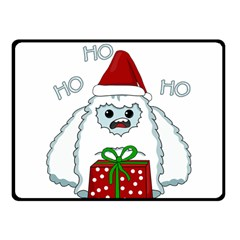 Yeti Xmas Fleece Blanket (small) by Valentinaart