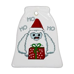 Yeti Xmas Bell Ornament (two Sides) by Valentinaart