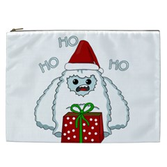 Yeti Xmas Cosmetic Bag (xxl)  by Valentinaart