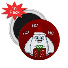 Yeti Xmas 2 25  Magnets (10 Pack)  by Valentinaart
