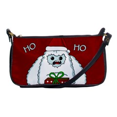 Yeti Xmas Shoulder Clutch Bags by Valentinaart