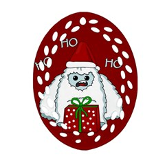 Yeti Xmas Oval Filigree Ornament (two Sides) by Valentinaart