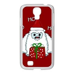 Yeti Xmas Samsung Galaxy S4 I9500/ I9505 Case (white) by Valentinaart