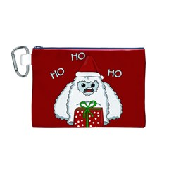 Yeti Xmas Canvas Cosmetic Bag (m)