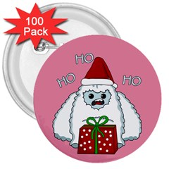 Yeti Xmas 3  Buttons (100 Pack)  by Valentinaart