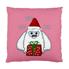 Yeti Xmas Standard Cushion Case (one Side) by Valentinaart