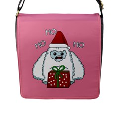 Yeti Xmas Flap Messenger Bag (l)  by Valentinaart