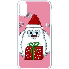 Yeti Xmas Apple Iphone X Seamless Case (white) by Valentinaart