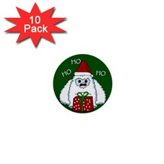 Yeti Xmas 1  Mini Buttons (10 Pack)  by Valentinaart